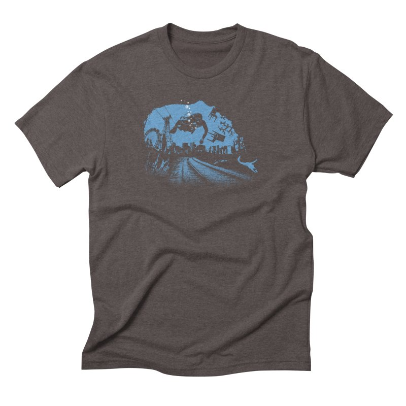 global warming paradise Men's Triblend T-Shirt by sustici's Artist Shop