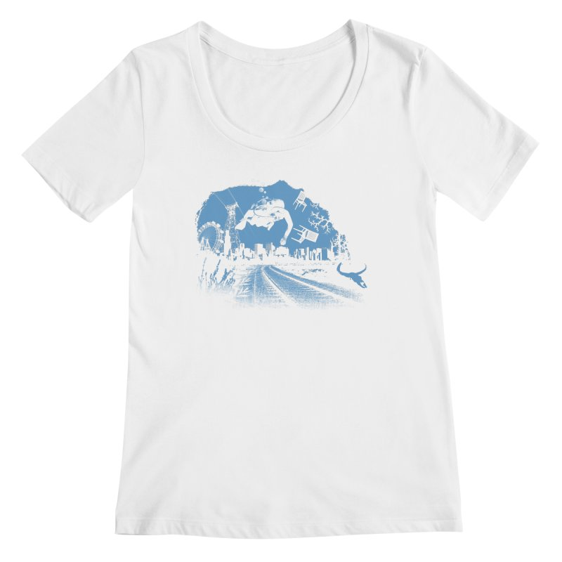 global warming paradise Women's Regular Scoop Neck by sustici's Artist Shop