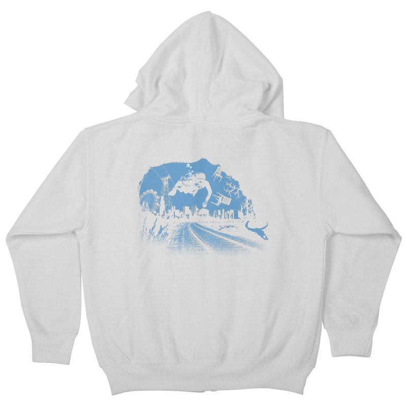 global warming paradise Kids Zip-Up Hoody by sustici's Artist Shop