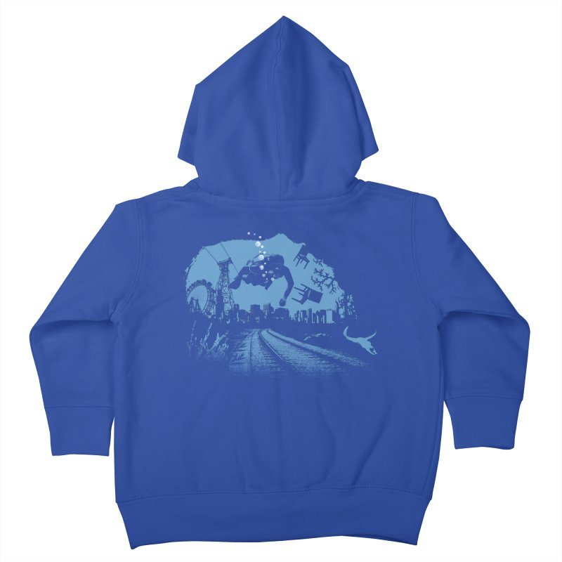 global warming paradise Kids Toddler Zip-Up Hoody by sustici's Artist Shop