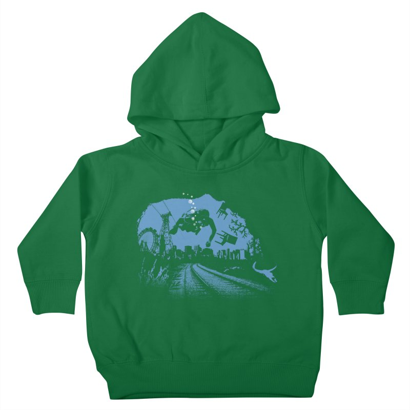 global warming paradise Kids Toddler Pullover Hoody by sustici's Artist Shop
