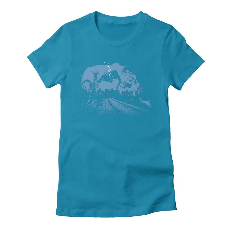 global warming paradise Women's Fitted T-Shirt by sustici's Artist Shop