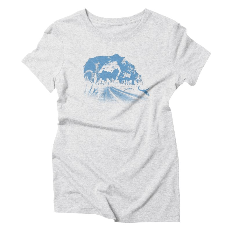 global warming paradise Women's Triblend T-Shirt by sustici's Artist Shop