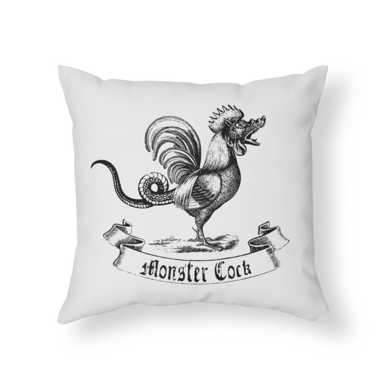 surreal monster cock Home Throw Pillow by sustici's Artist Shop