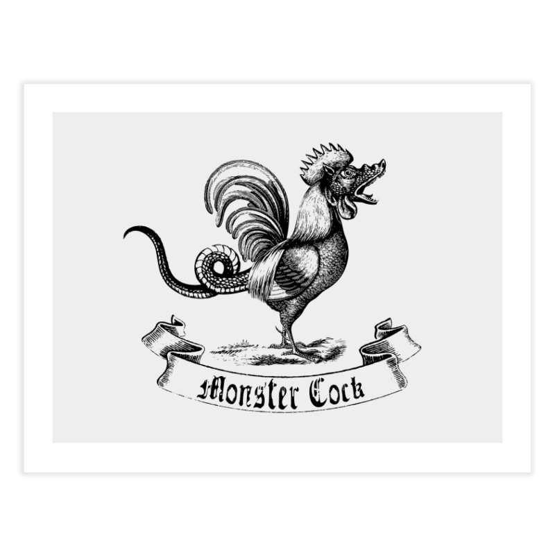 surreal monster cock Home Fine Art Print by sustici's Artist Shop