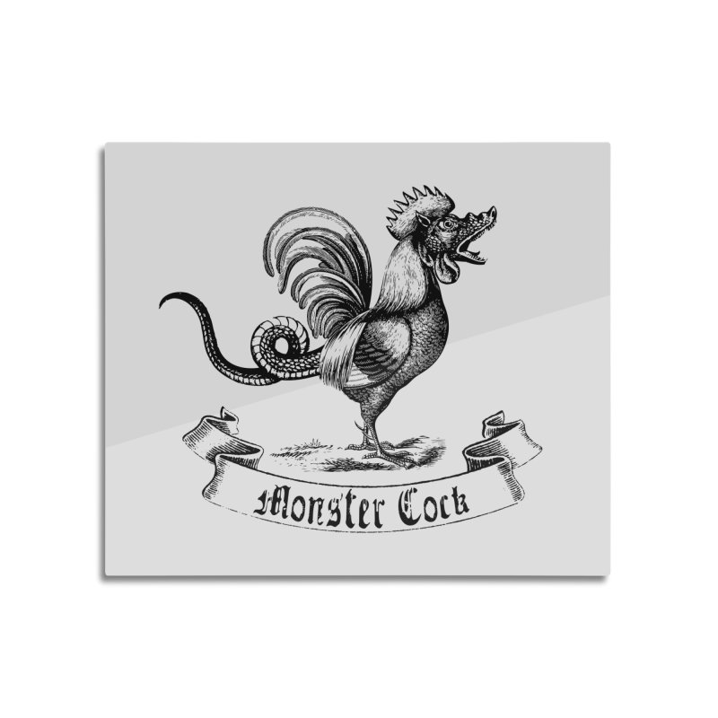 surreal monster cock Home Mounted Aluminum Print by sustici's Artist Shop