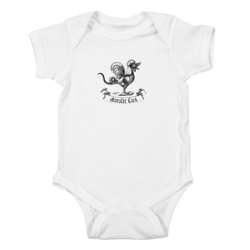 surreal monster cock Kids Baby Bodysuit by sustici's Artist Shop