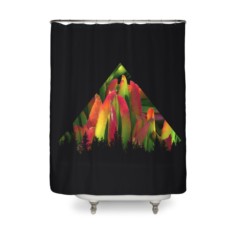 Succulent Pyramid Home Shower Curtain by sustici's Artist Shop