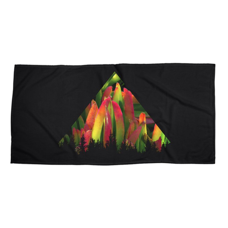 Succulent Pyramid Accessories Beach Towel by sustici's Artist Shop
