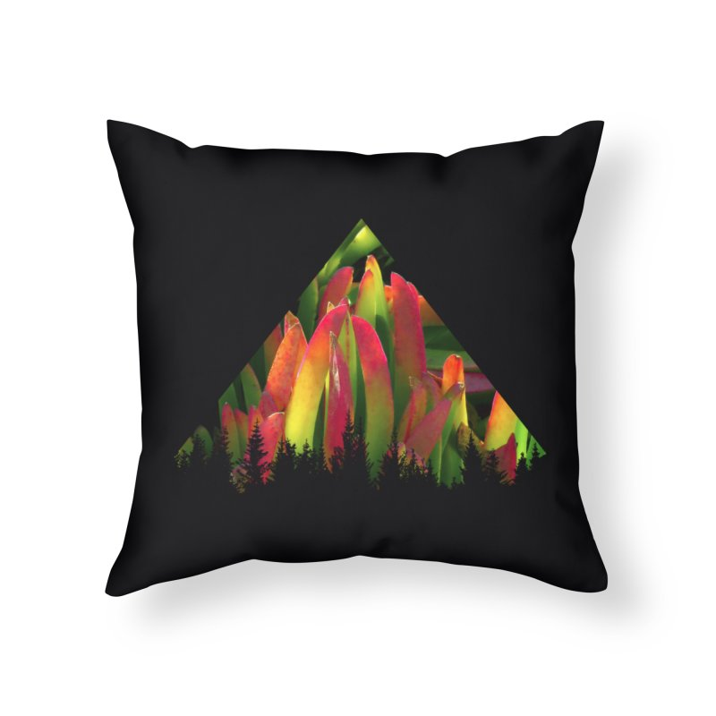 Succulent Pyramid Home Throw Pillow by sustici's Artist Shop