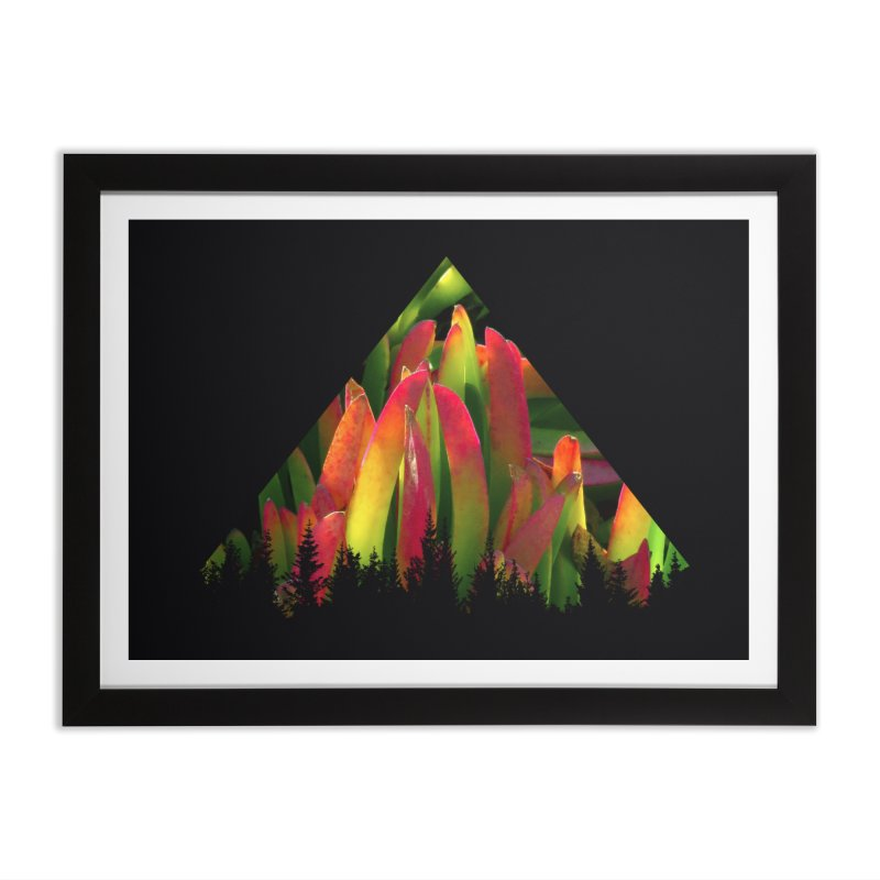 Succulent Pyramid Home Framed Fine Art Print by sustici's Artist Shop