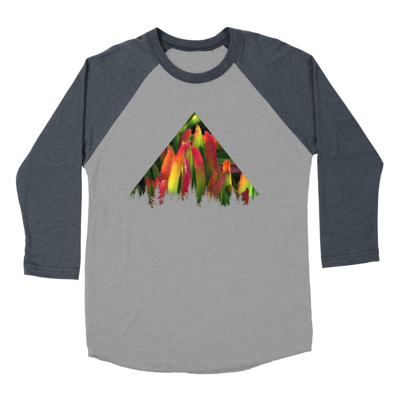 Succulent Pyramid Men's Baseball Triblend T-Shirt by sustici's Artist Shop