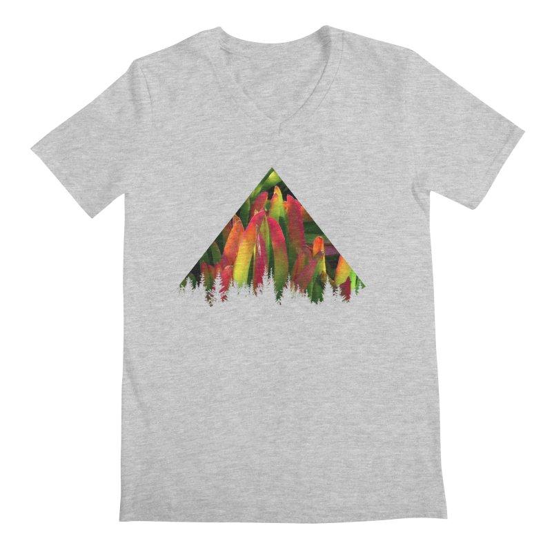 Succulent Pyramid Men's V-Neck by sustici's Artist Shop