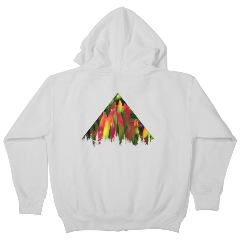 Succulent Pyramid Kids Zip-Up Hoody by sustici's Artist Shop