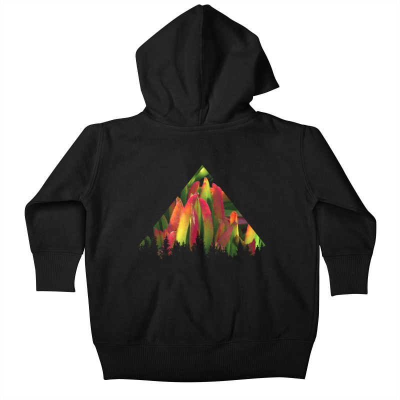 Succulent Pyramid Kids Baby Zip-Up Hoody by sustici's Artist Shop