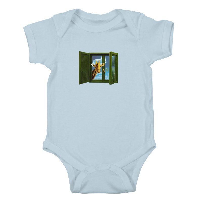 Good Morning! Kids Baby Bodysuit by sustici's Artist Shop