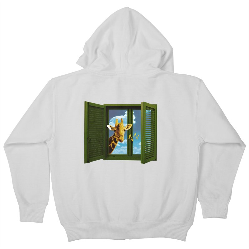 Good Morning! Kids Zip-Up Hoody by sustici's Artist Shop