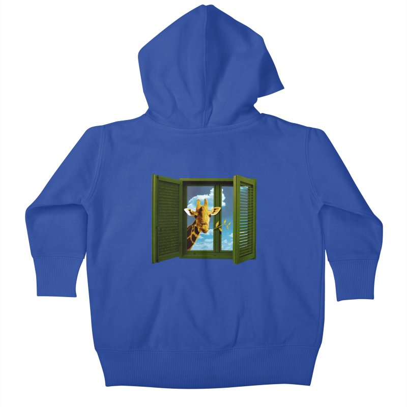 Good Morning! Kids Baby Zip-Up Hoody by sustici's Artist Shop