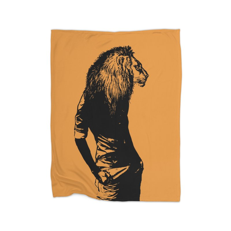 EVERY MORNING IN AFRICA, A GAZELLE WAKES UP Home Fleece Blanket Blanket by sustici's Artist Shop