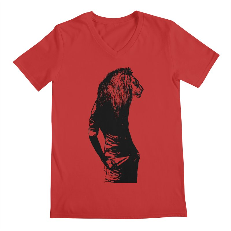 EVERY MORNING IN AFRICA, A GAZELLE WAKES UP Men's V-Neck by sustici's Artist Shop