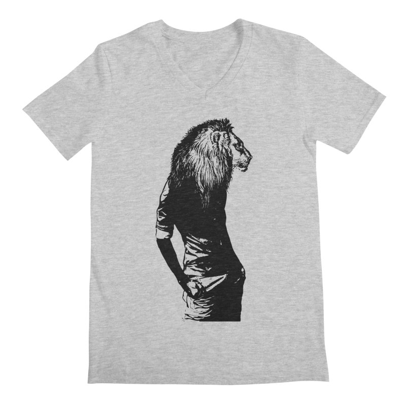 EVERY MORNING IN AFRICA, A GAZELLE WAKES UP Men's Regular V-Neck by sustici's Artist Shop