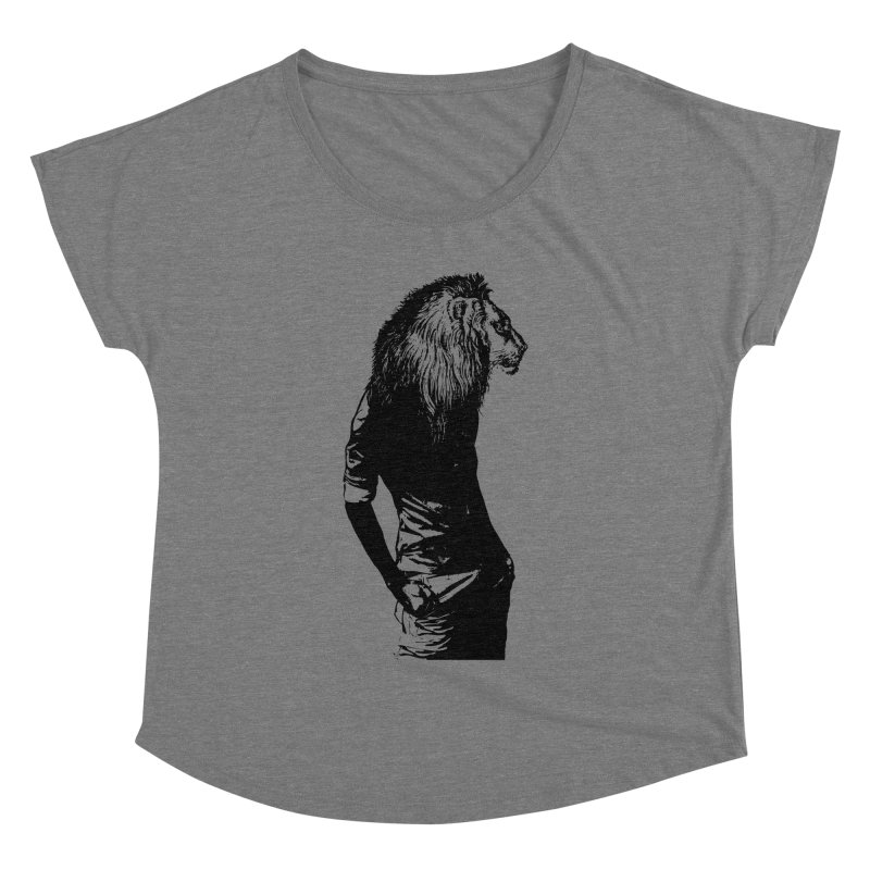 EVERY MORNING IN AFRICA, A GAZELLE WAKES UP Women's Dolman Scoop Neck by sustici's Artist Shop