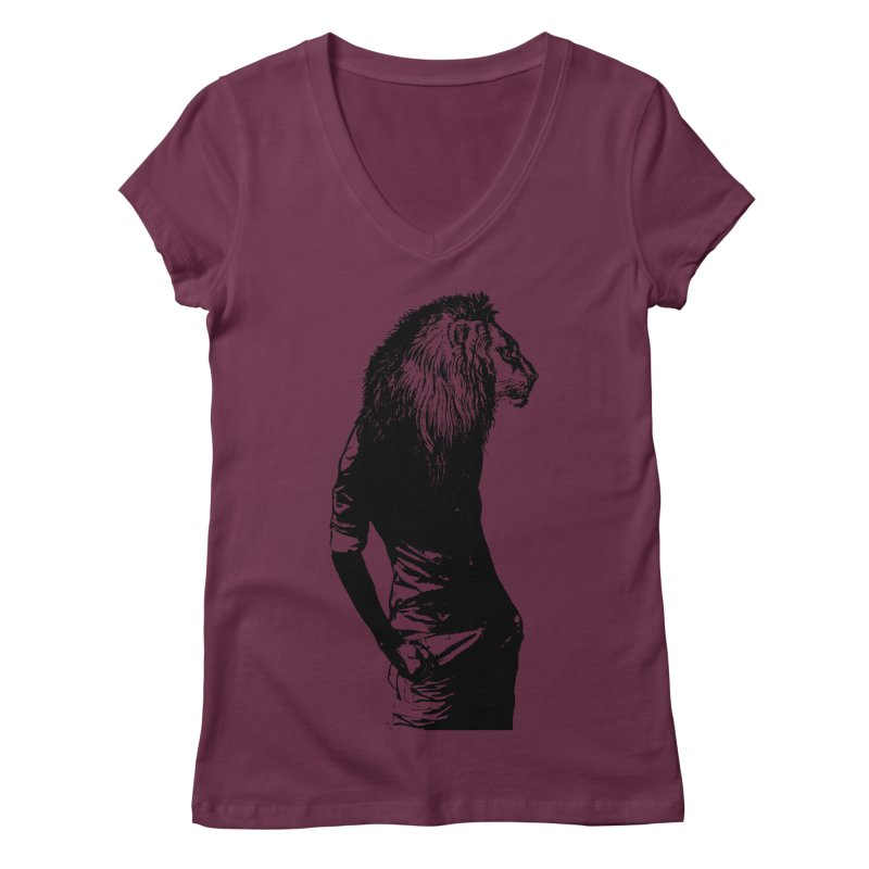 EVERY MORNING IN AFRICA, A GAZELLE WAKES UP Women's Regular V-Neck by sustici's Artist Shop