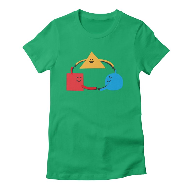 THE DANCE OF DIVERSITY Women's Fitted T-Shirt by sustici's Artist Shop