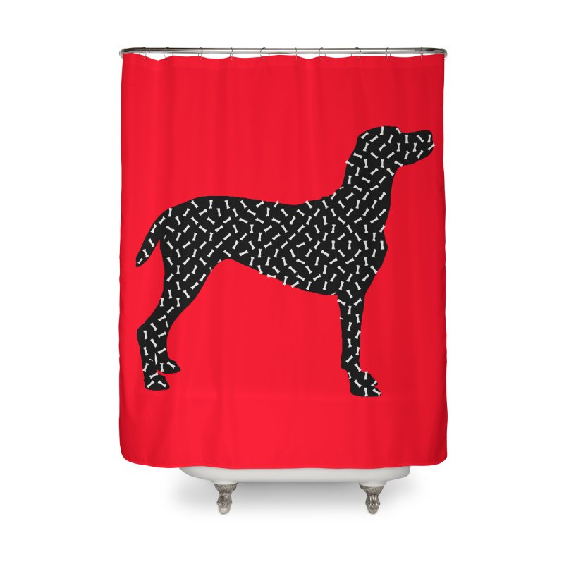 the greedy dog Home Shower Curtain by sustici's Artist Shop