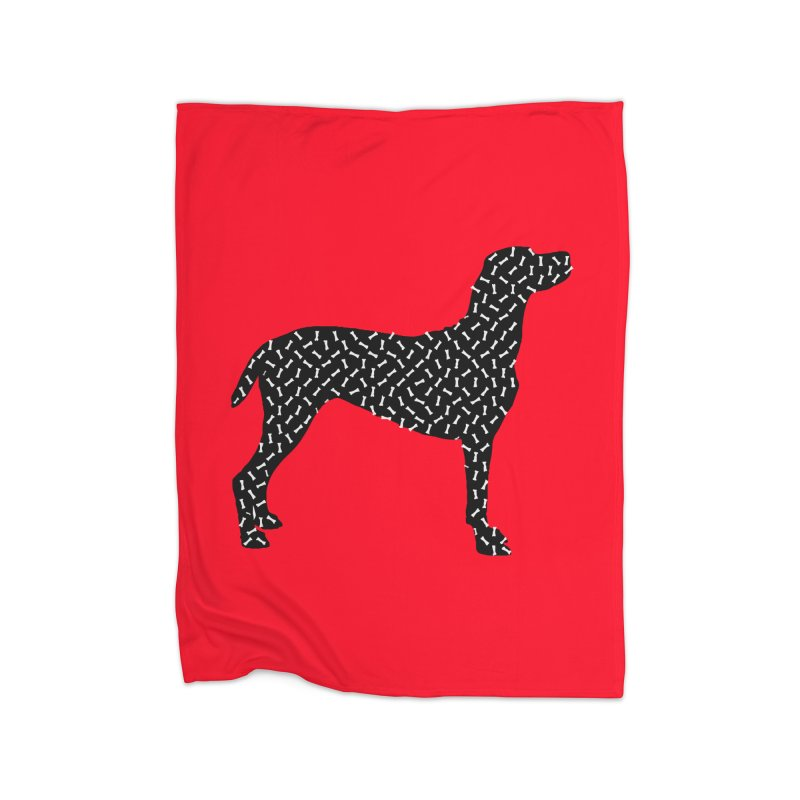 the greedy dog Home Blanket by sustici's Artist Shop