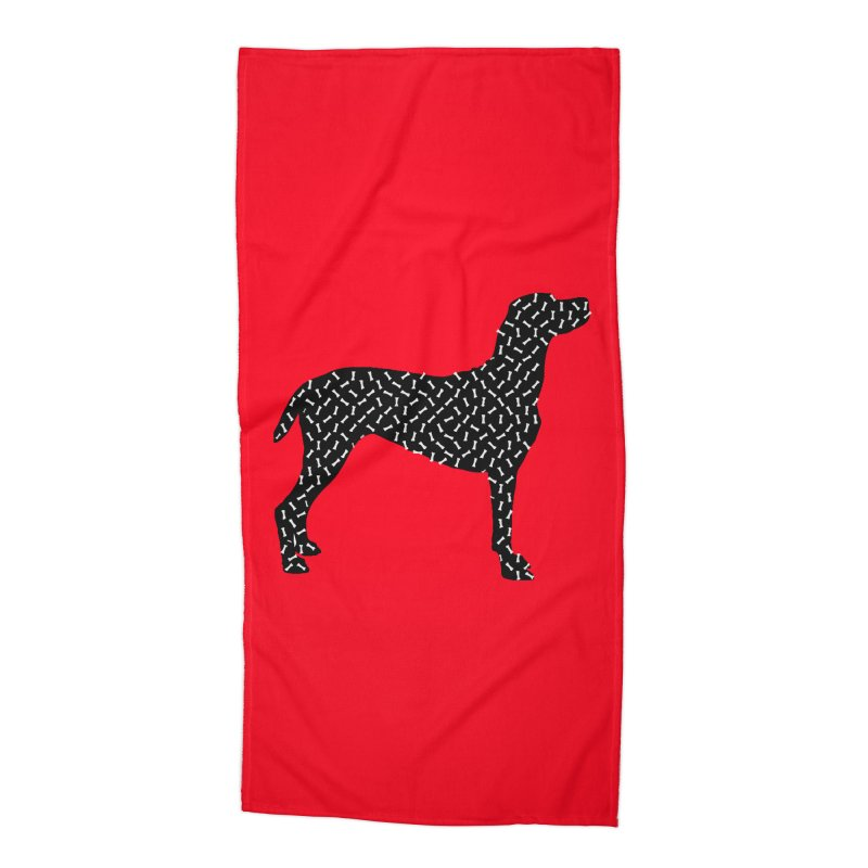 the greedy dog Accessories Beach Towel by sustici's Artist Shop