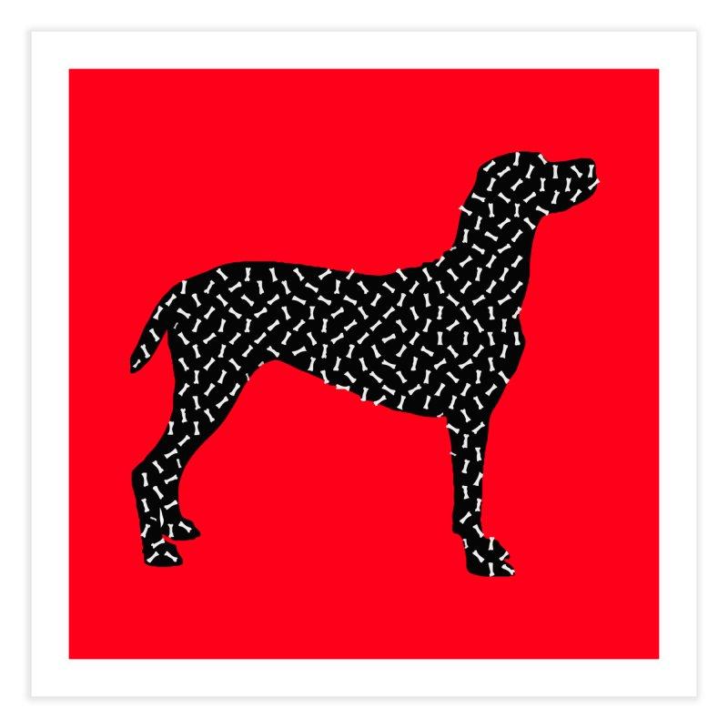 the greedy dog Home Fine Art Print by sustici's Artist Shop