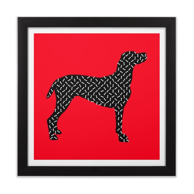 the greedy dog Home Framed Fine Art Print by sustici's Artist Shop