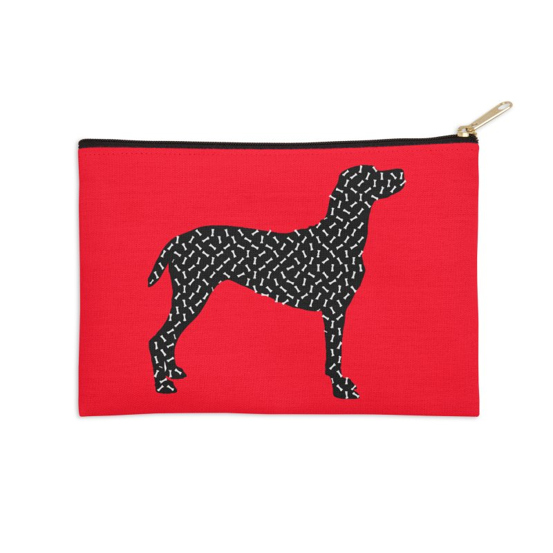 the greedy dog Accessories Zip Pouch by sustici's Artist Shop