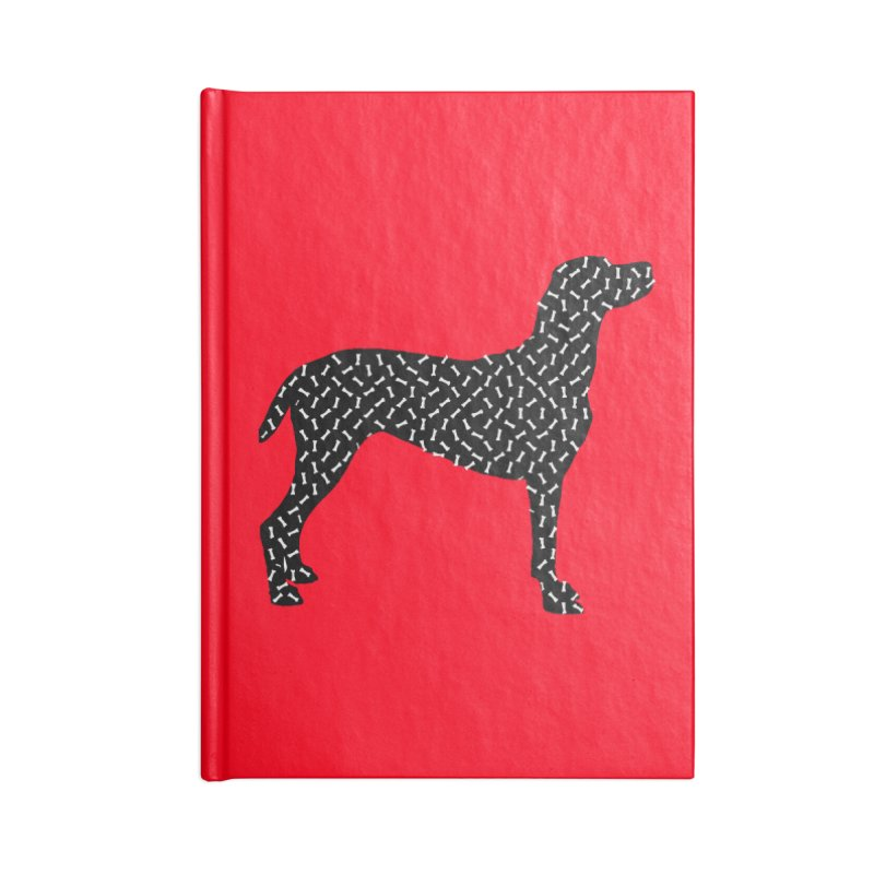 the greedy dog Accessories Lined Journal Notebook by sustici's Artist Shop