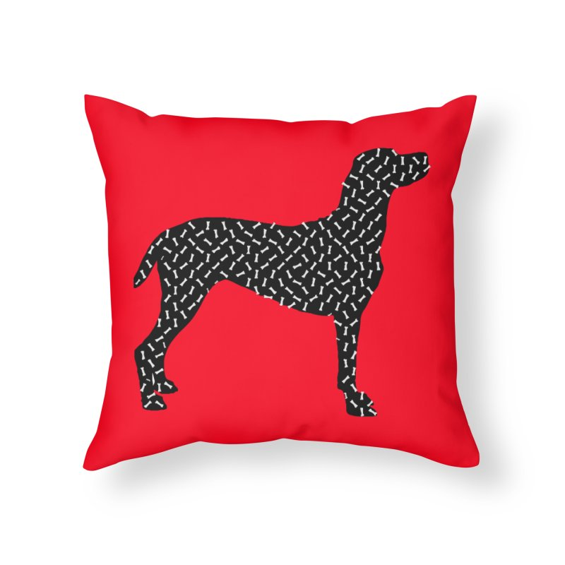 the greedy dog Home Throw Pillow by sustici's Artist Shop