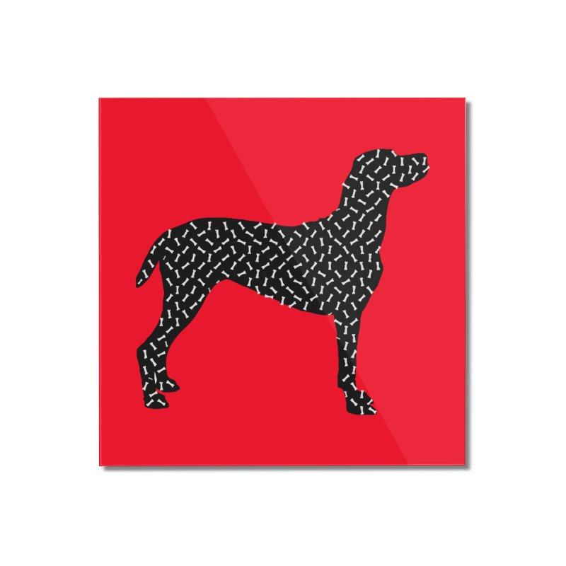 the greedy dog Home Mounted Acrylic Print by sustici's Artist Shop