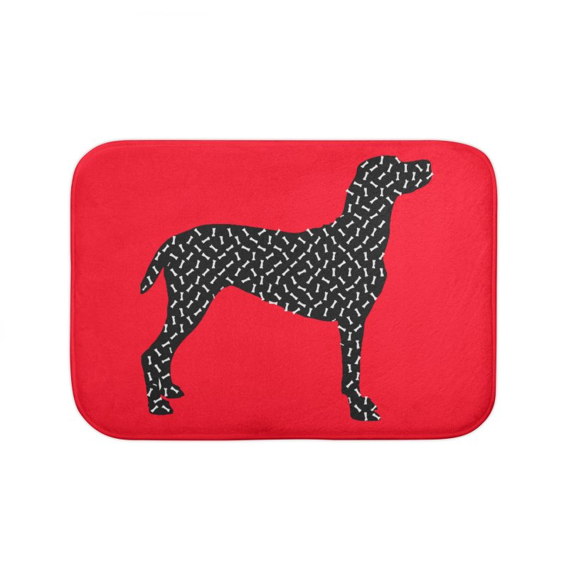 the greedy dog Home Bath Mat by sustici's Artist Shop