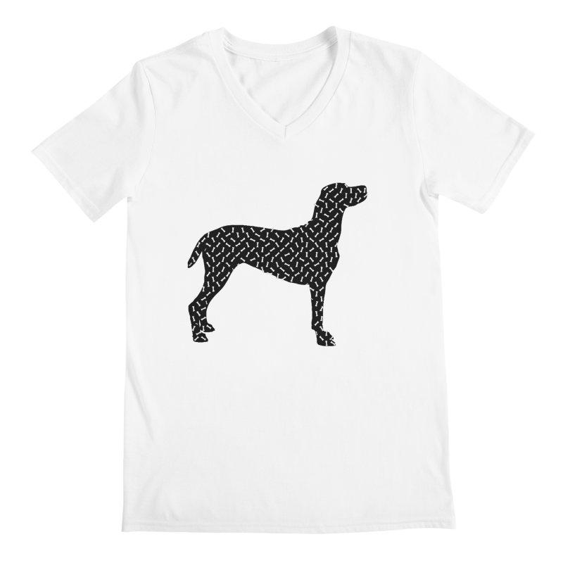 the greedy dog Men's V-Neck by sustici's Artist Shop