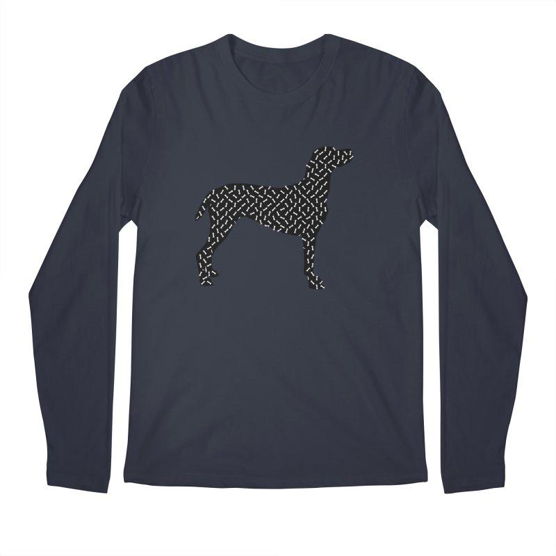 the greedy dog Men's Regular Longsleeve T-Shirt by sustici's Artist Shop
