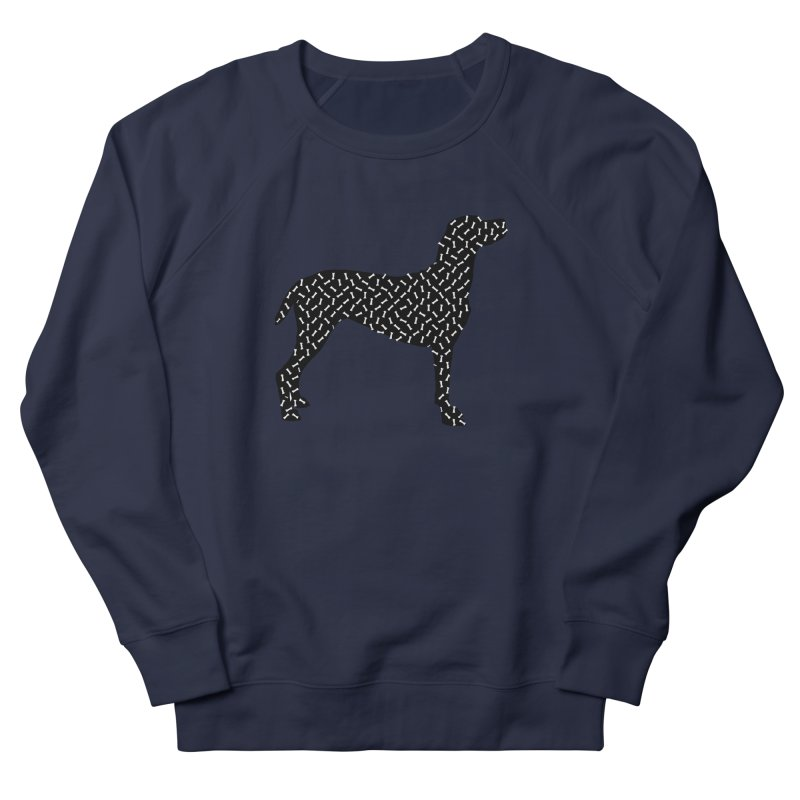 the greedy dog Women's French Terry Sweatshirt by sustici's Artist Shop