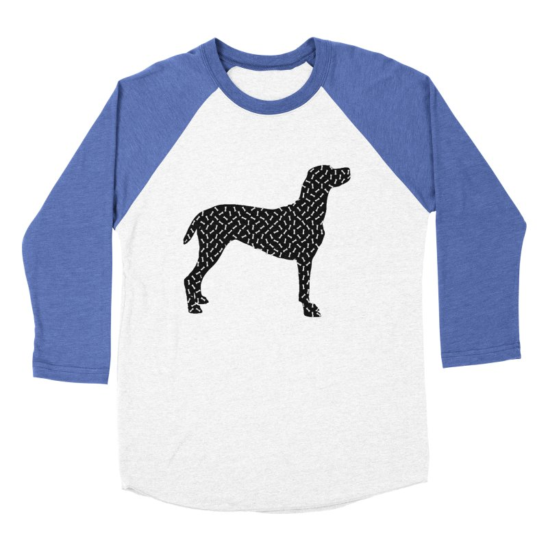 the greedy dog Women's Baseball Triblend Longsleeve T-Shirt by sustici's Artist Shop