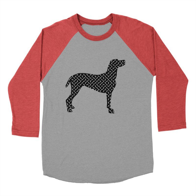 the greedy dog Women's Baseball Triblend Longsleeve T-Shirt by sustici's Artist Shop