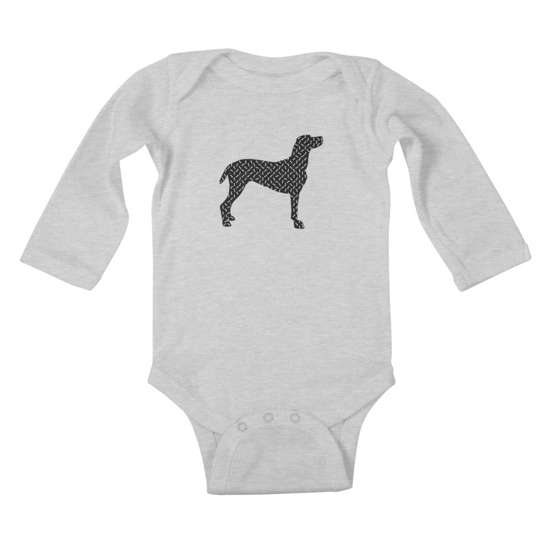 the greedy dog Kids Baby Longsleeve Bodysuit by sustici's Artist Shop