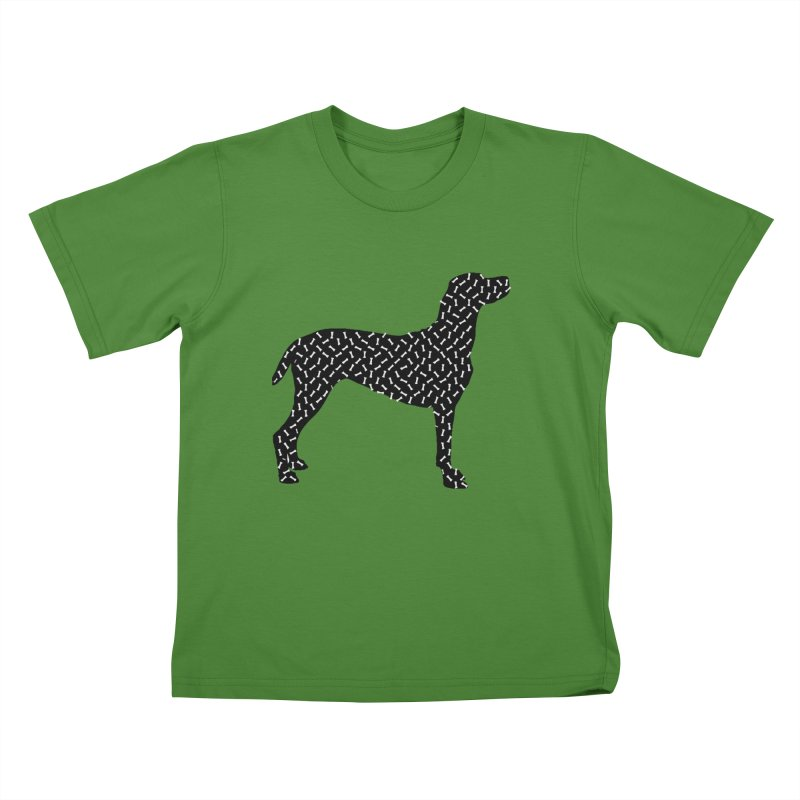 the greedy dog Kids T-Shirt by sustici's Artist Shop