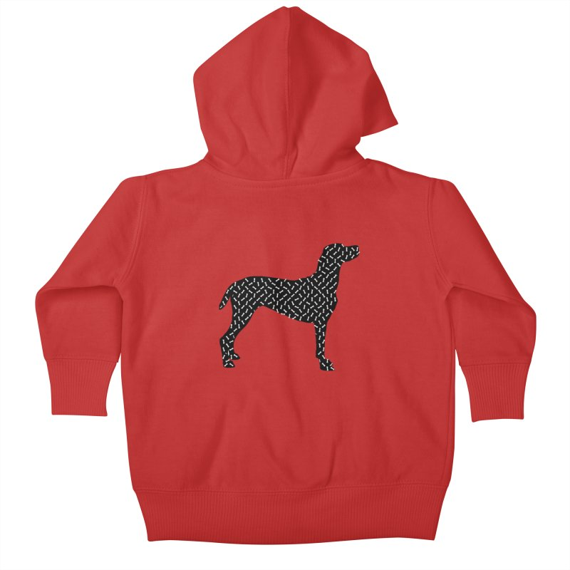 the greedy dog Kids Baby Zip-Up Hoody by sustici's Artist Shop