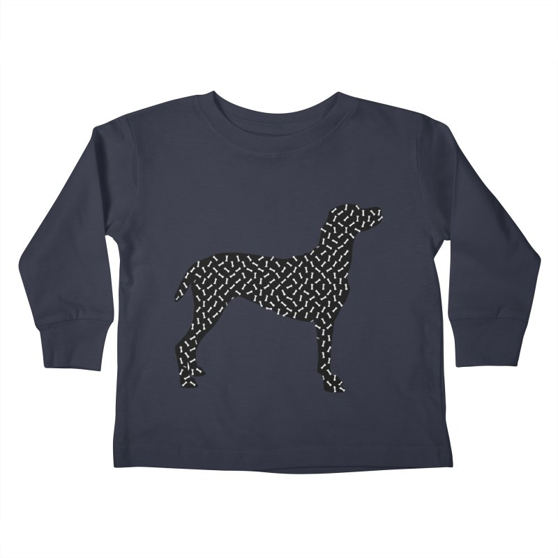 the greedy dog Kids Toddler Longsleeve T-Shirt by sustici's Artist Shop