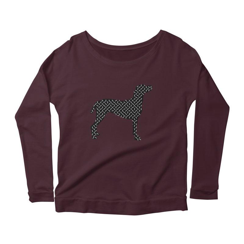 the greedy dog Women's Scoop Neck Longsleeve T-Shirt by sustici's Artist Shop