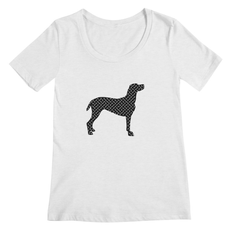 the greedy dog Women's Regular Scoop Neck by sustici's Artist Shop