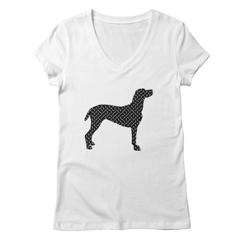the greedy dog Women's Regular V-Neck by sustici's Artist Shop